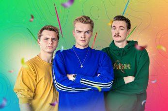 Stefan, Sean en Bram Krikke